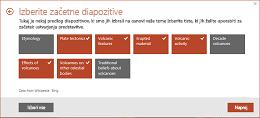 3. korak postopka z orodjem za hiter začetek: Pridobite osnutek predstavitve v PowerPointu