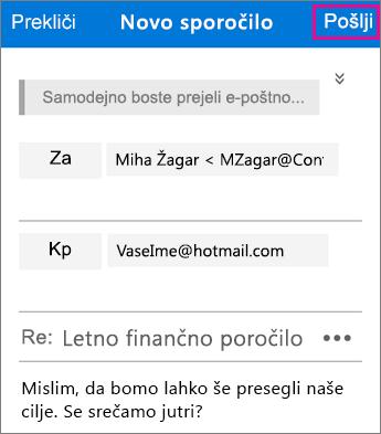 Pregledovalnik za šifrirana sporočila v storitvi Office 365 – odgovor 2