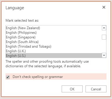Nastavitev jezika