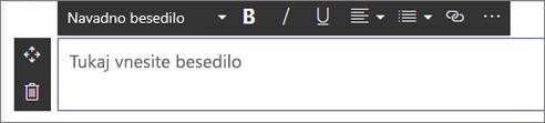 Spletni gradnik »Besedilo«