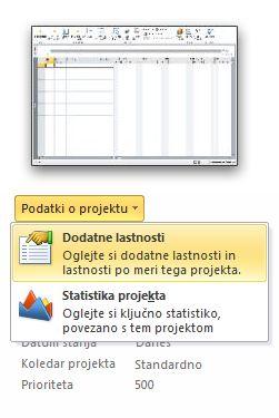 Slika menija »Lastnosti datoteke«.