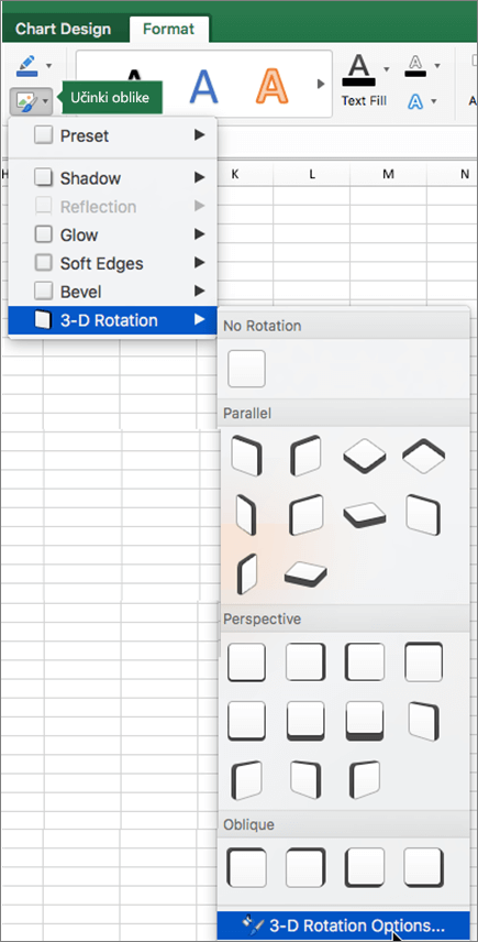 Možnosti vrtenja 3D