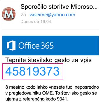 Pregledovalnik za šifrirana sporočila v storitvi Office 365 s storitvijo Yahoo 4