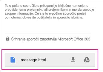 Pregledovalnik OME s storitvijo Gmail v 1 s sistemom Android