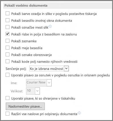 Word 2013 – možnosti prikaza vsebine dokumenta
