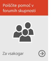 Pridobivanje pomoči v forumih skupnostih (za vse)