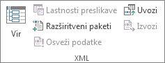 Osveževanje podatkov XML