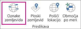 Možnost »Oznaka zemljevida« za 3D-zemljevide