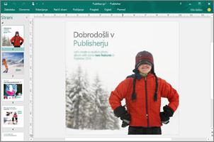 S programom Publisher ustvarite strokovna glasila, brošure in druge publikacije.