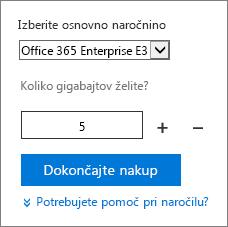 Spreminjanje števila uporabniških licenc za dodatek.