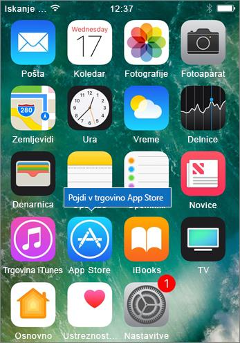 Pojdite v trgovino App Store v telefonu iPhone
