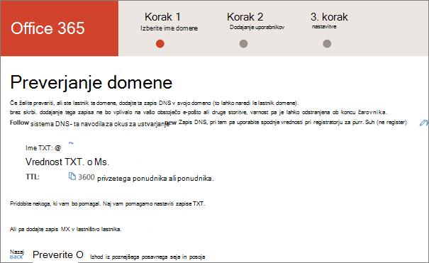 Preverite domeno