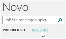 Posnetek zaslona kategorij vgrajenih predlog v programu Publisher.