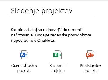 Vdelane datoteke na strani v OneNotu za Windows 10