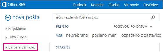Mapa v skupni rabi se prikaže v programu Outlook Web App