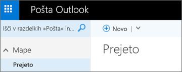Videz novega traku v storitvi Outlook.com