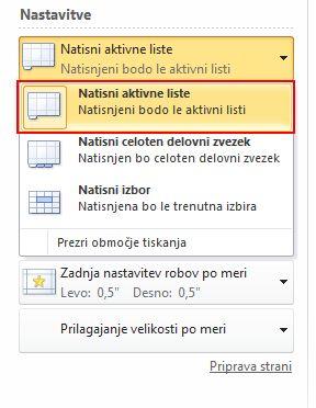 Click Print Active Sheets, and select Print Active Sheets.