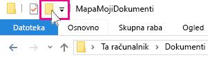Ikona »Nova mapa«.