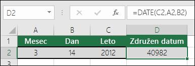 Funkcija DATE, primer 1