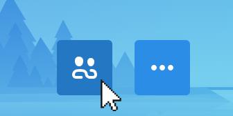 Posnetek zaslona, ki prikazuje izbrano ikono skupne rabe