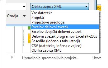 Izberite Excelov delovni zvezek, v katerem so želeni podatki