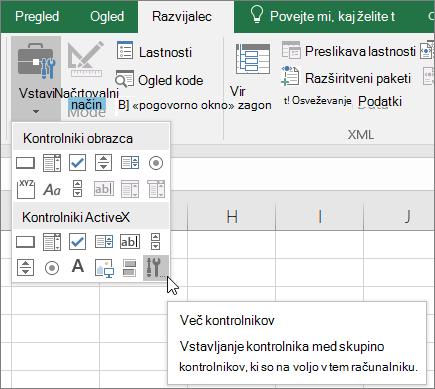 Kontrolniki ActiveX, na traku