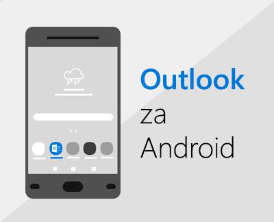 Kliknite, če želite nastaviti Outlook za Android