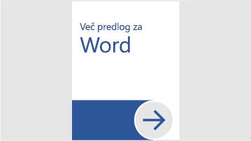 Več predlog za Word
