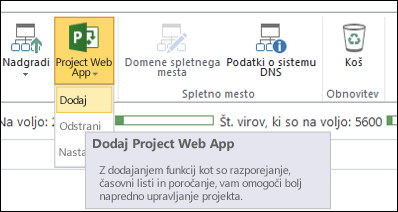 Project Web App > »Dodaj«