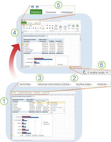 Hitri pregled programa Excel Web App