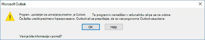 Program ni nameščen