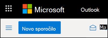 Videz traku v Outlooku v spletu.