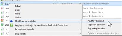 Ogled datoteke v sinhronizirani mapi v spletnem brskalniku