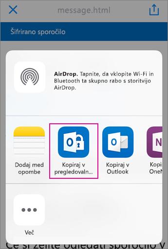 Pregledovalnik za šifrirana sporočila v storitvi Office 365 s storitvijo Yahoo 3