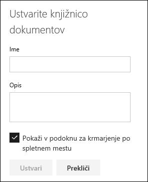 Podrobnosti knjižnice dokumentov