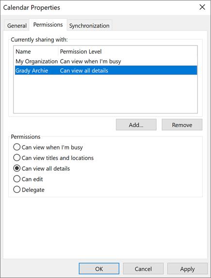 Skupna raba koledarja z drugimi v Outlooku