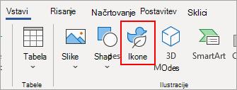 Izberite ikone