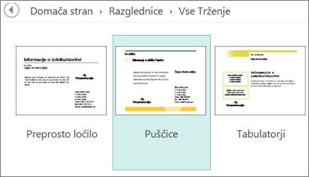 Predloge reklamnih razglednic za program Publisher.