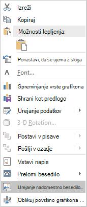 Word Win32 editing alt text menu za grafikone