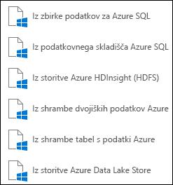 Dobi podatke iz storitve Microsoft Azure