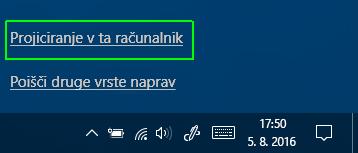 Projiciranje v ta računalnik