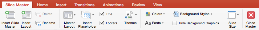 PowerPoint for Mac Slide Master