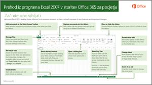 Sličica vodnika za preklop iz programa Excel 2007 v storitev Office 365