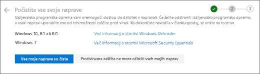 Posnetek zaslona čiščenje vseh napravah zaslona na spletnem mestu storitve OneDrive