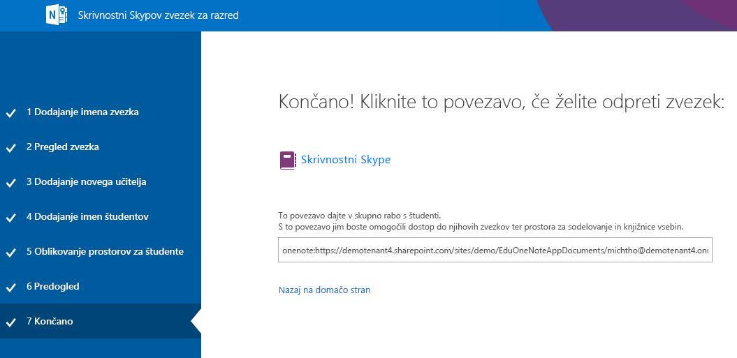 Postopek nastavitve skrivnostnega Skypa je dokončan