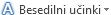 Menijski gumb »Besedilni učinki«