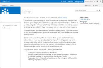 Predloga mesta wiki za poslovna okolja