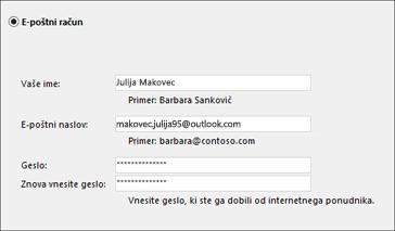 Nastavitve v Outlooku