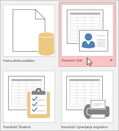 Predloge programa Access