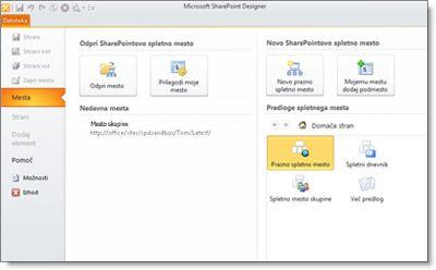 Slika programa SharePoint Designer 2010